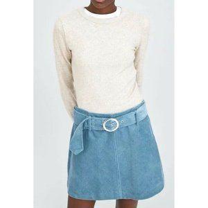 Zara Marl Soft Touch Sweater Heathered Oatmeal Top